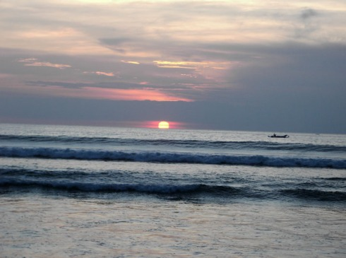 Sunset in Bali, picture taken by Zai